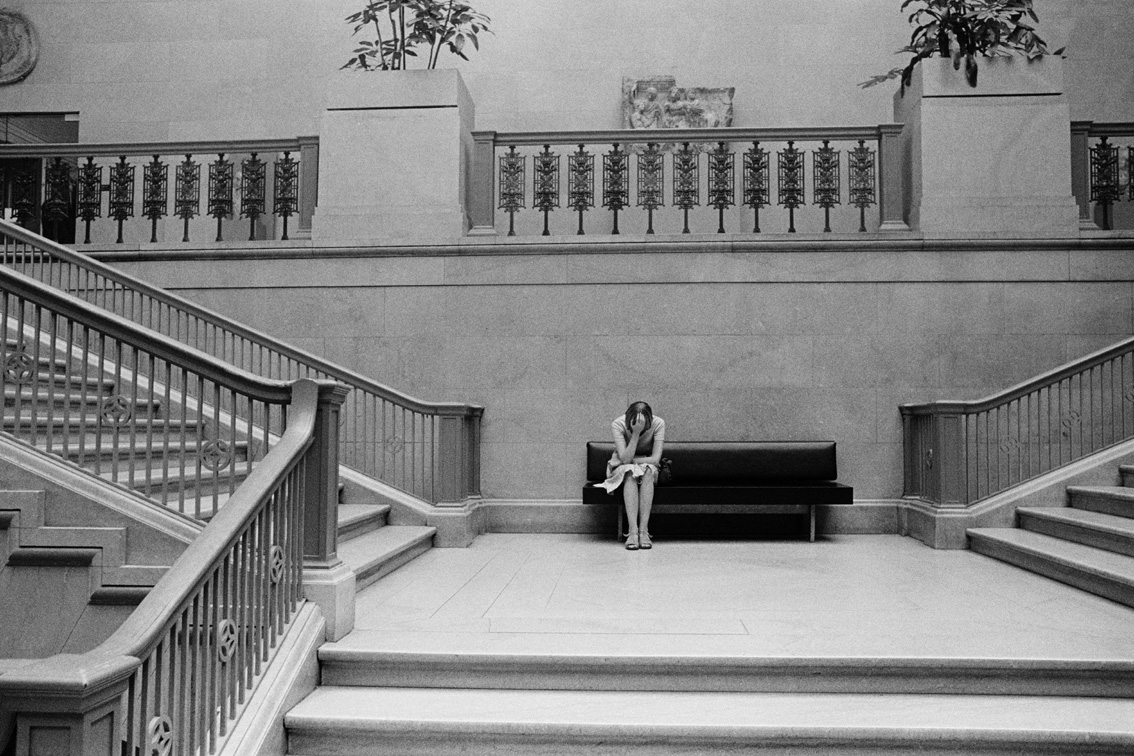 © Wei-Ming Yuan, Stair hall of a museum in Chicago, 1979
