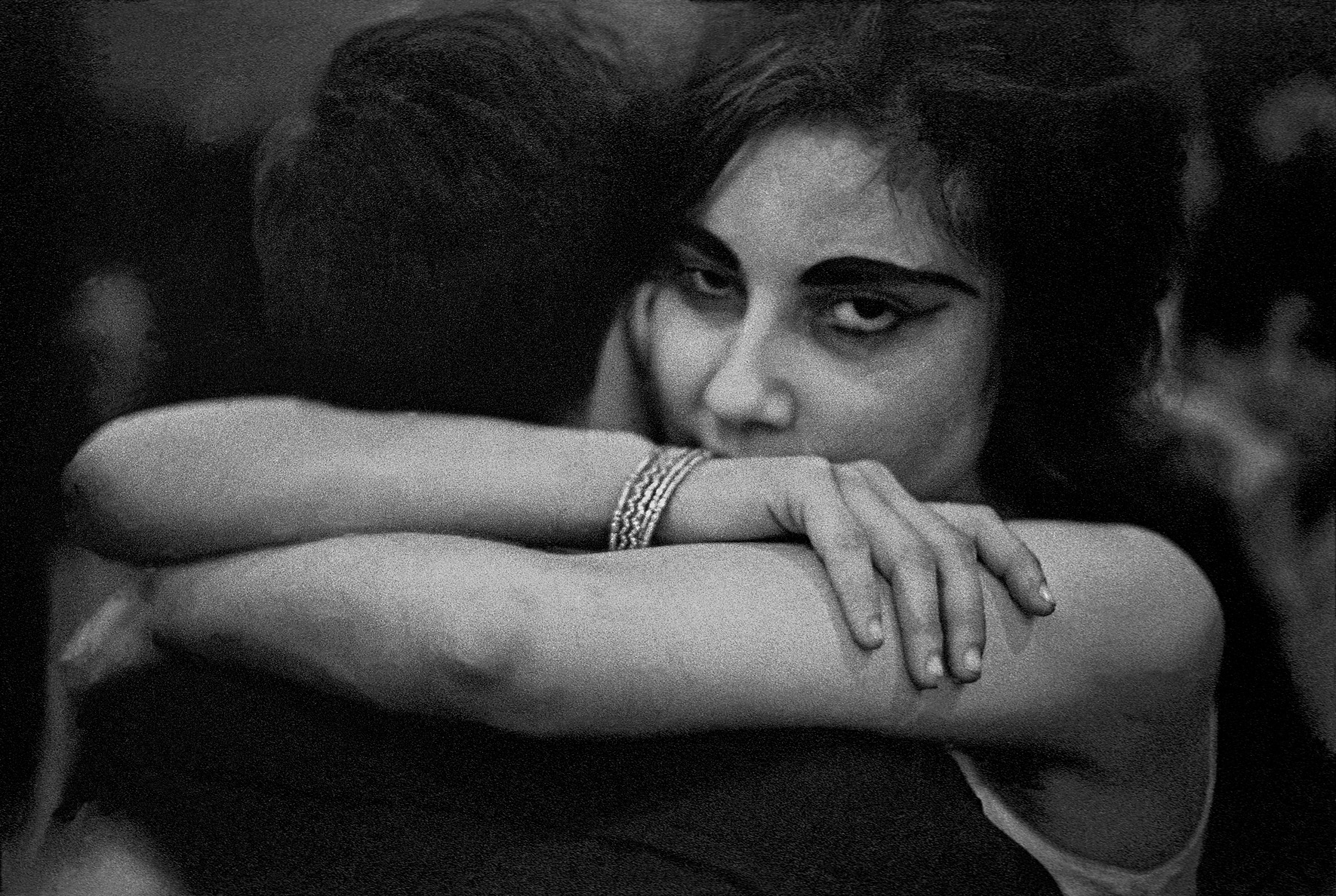 © Frank Horvat – Christmas night in a sailor's bar (dancing couple), India, 1962, Courtesy KLV Art Projects